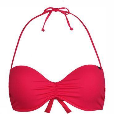 Solid Padded Wire Bandeau Bikinitop